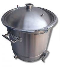 """Перегонный куб 37 литров (36*36) (кламп 1.5"""") сталь AISI 304 (купольная крышка)"""