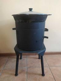 Печь для казана с дверцей 8,10,12 литров